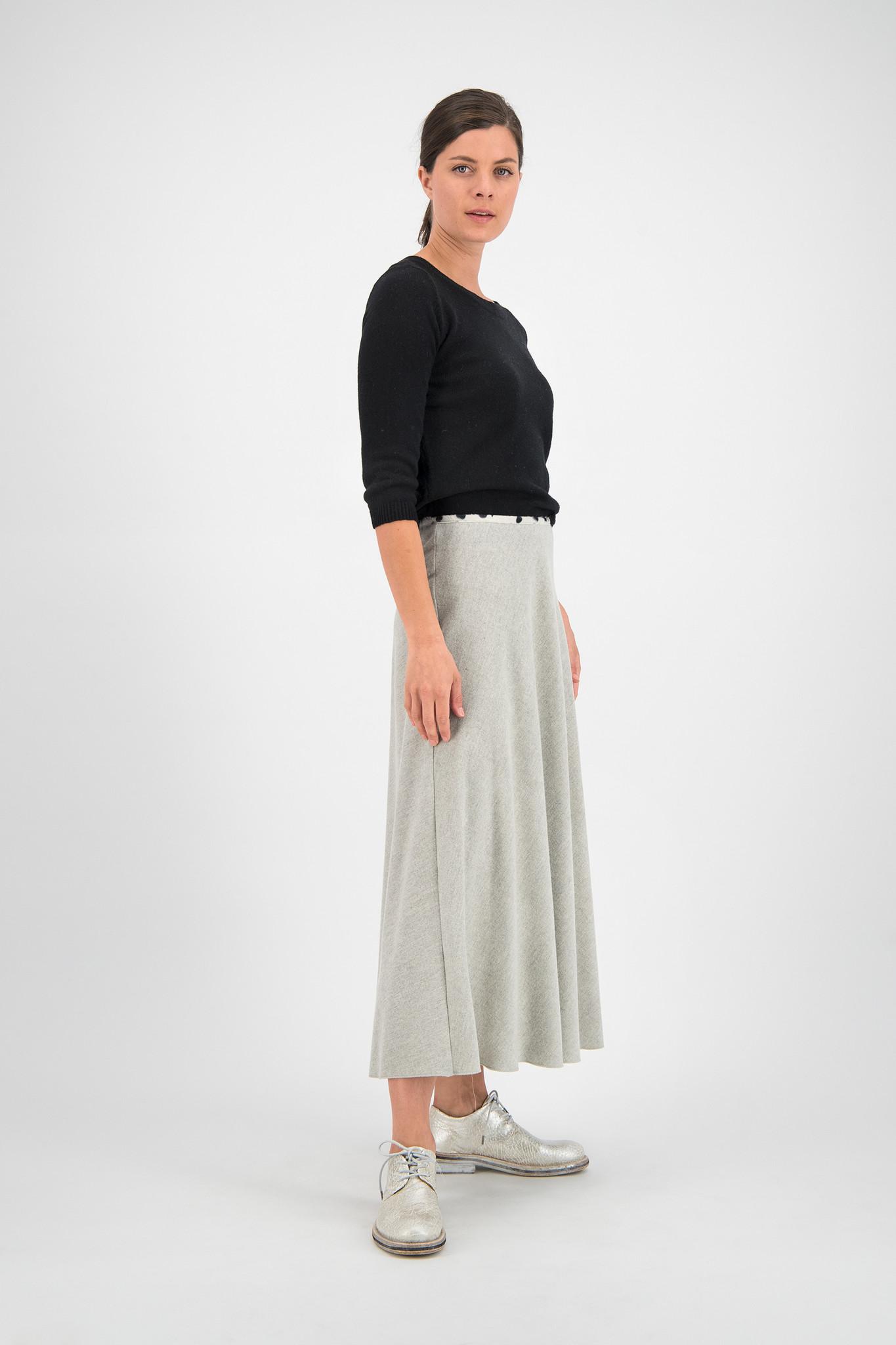 SYLVER Flannel Skirt - Light Grey