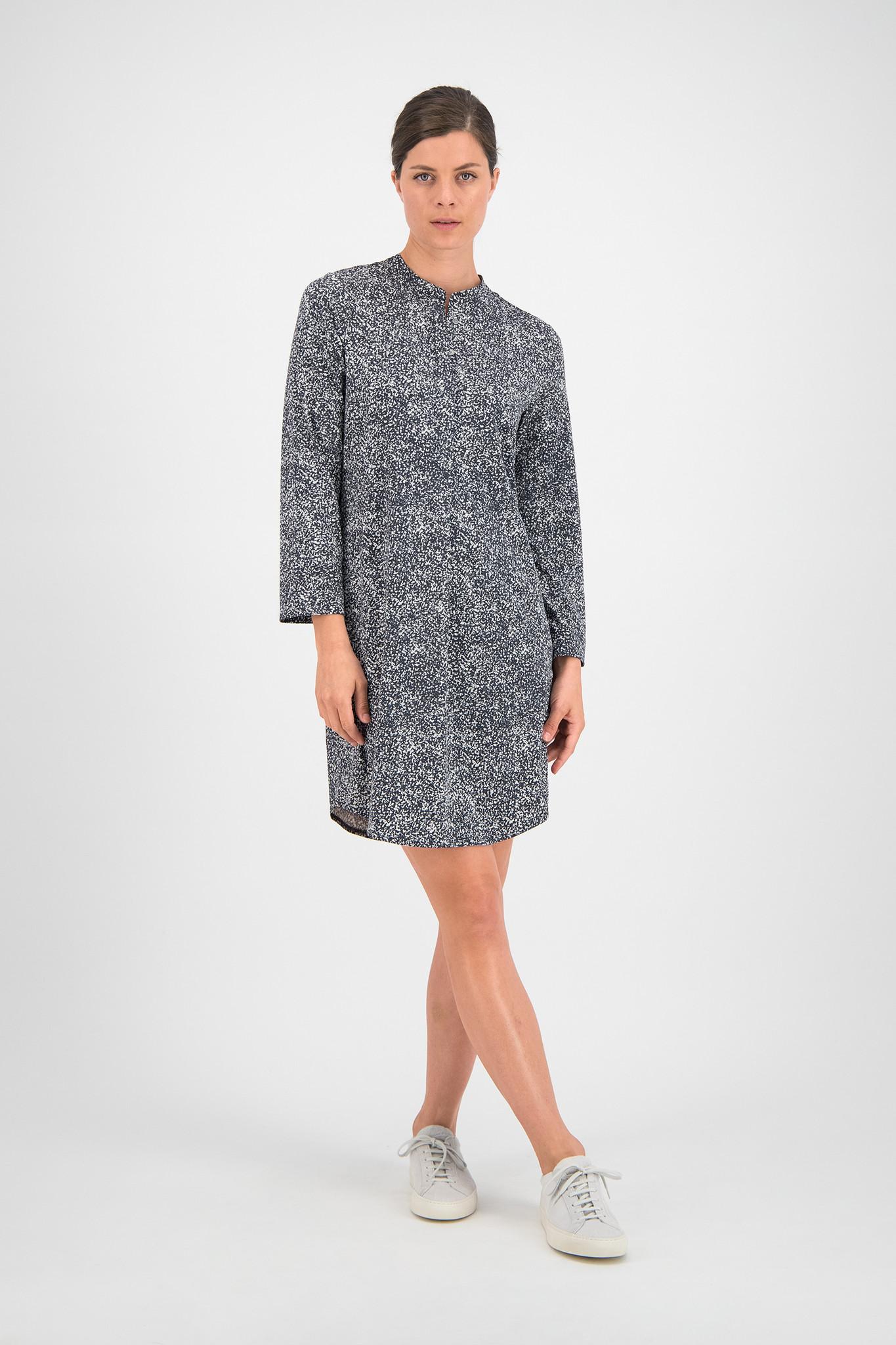 SYLVER Gravel Silky Jersey Dress - Grey