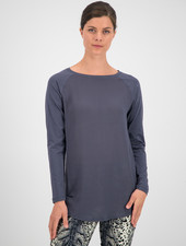 SYLVER Cotton Elastane Shirt Long Sleeve - Grey