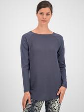 SYLVER Cotton Elastane Shirt Long Sleeve - Grey