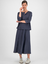 SYLVER Crêpe Stretch Skirt - Grey