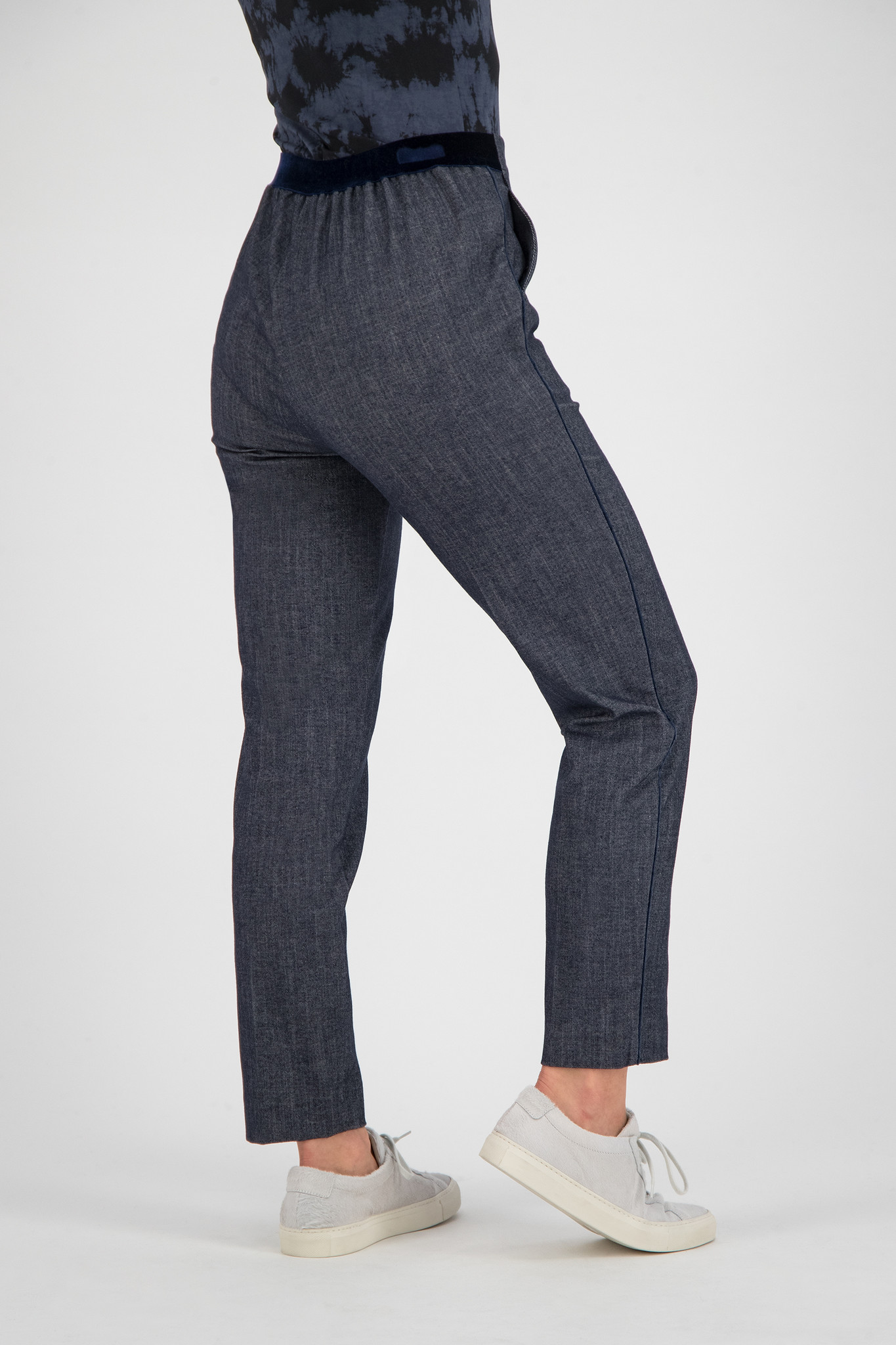 SYLVER Denim Trousers - Dark Blue