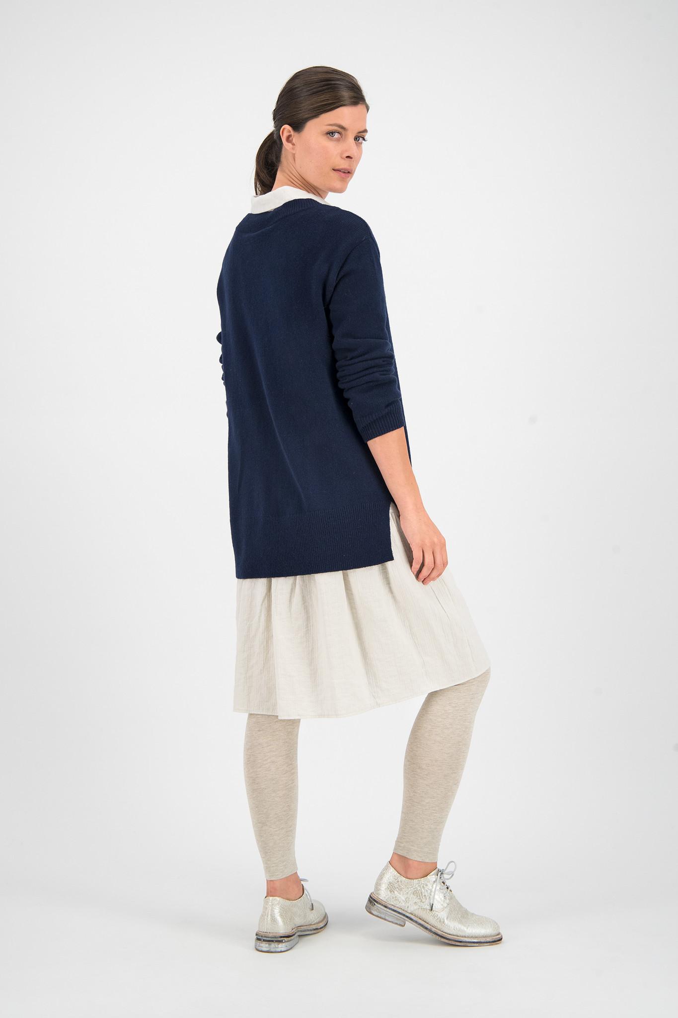 SYLVER Melange Flannel Blouse Dress - Naturel