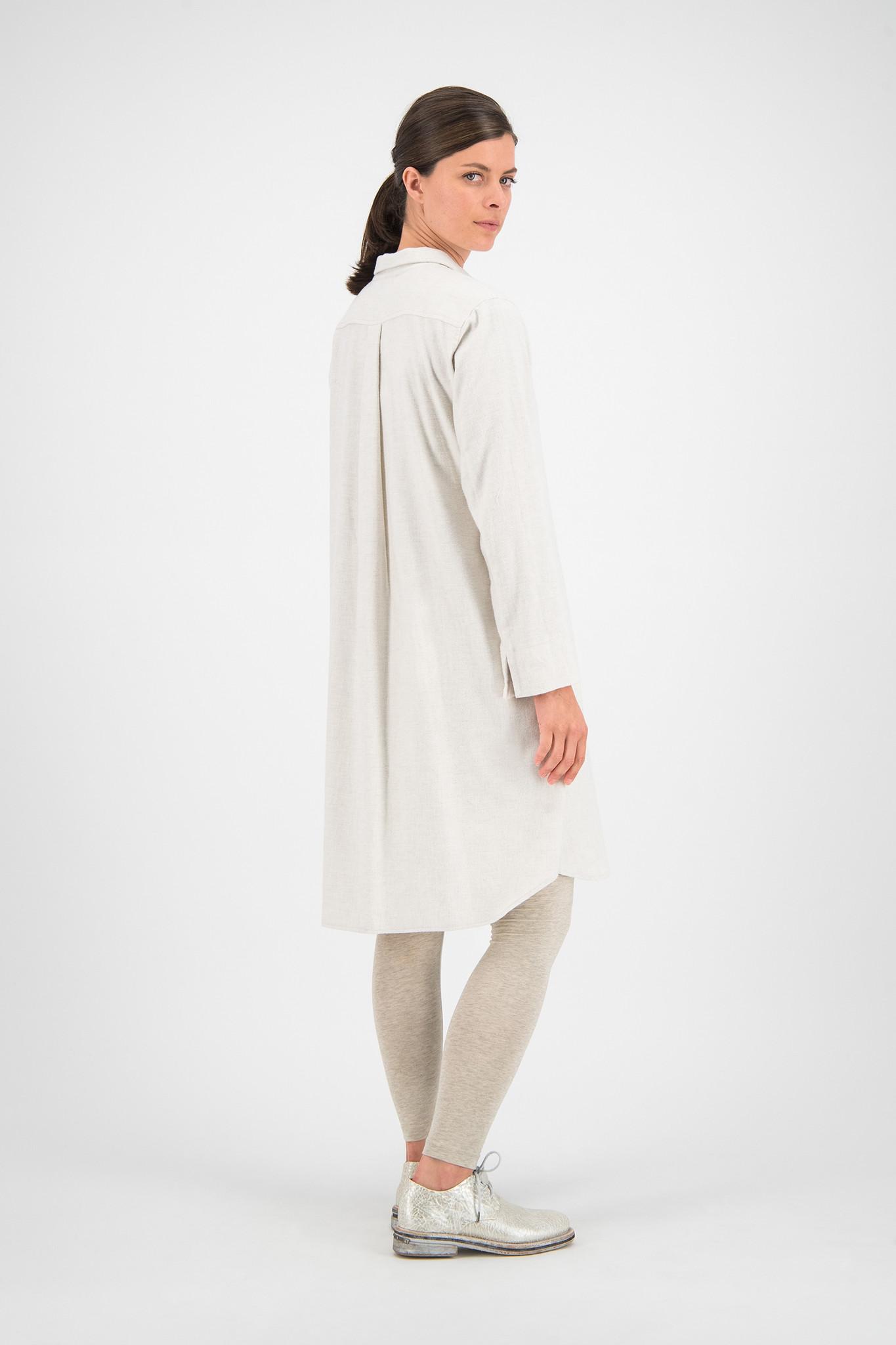 SYLVER Melange Flannel Tunic - Naturel