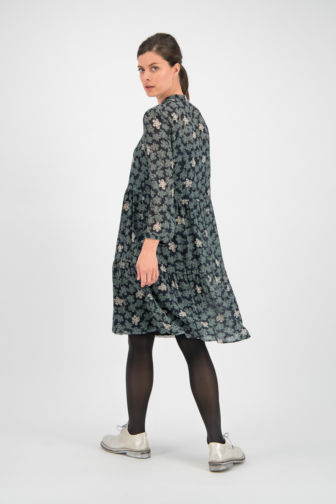 SYLVER Sketch Flowers Blouse - Tundra