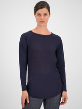 SYLVER Cotton Elastane Shirt Long Sleeve - Dark Blue