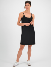SYLVER Crêpe Stretch Slip Dress - Black