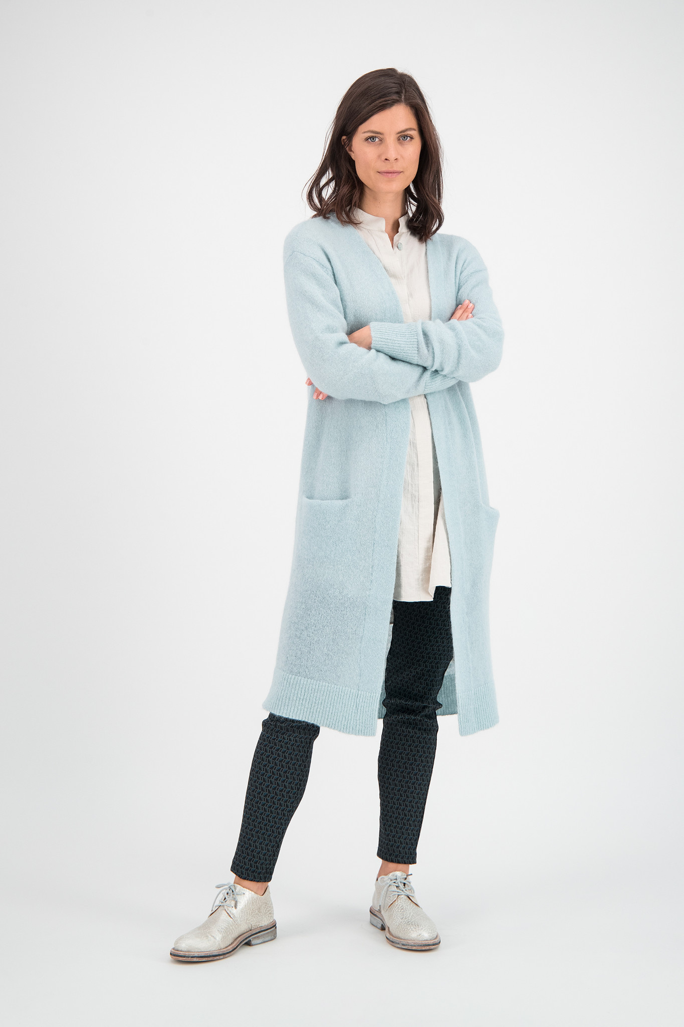 SYLVER Super Hair Cardigan Long - Snowbird