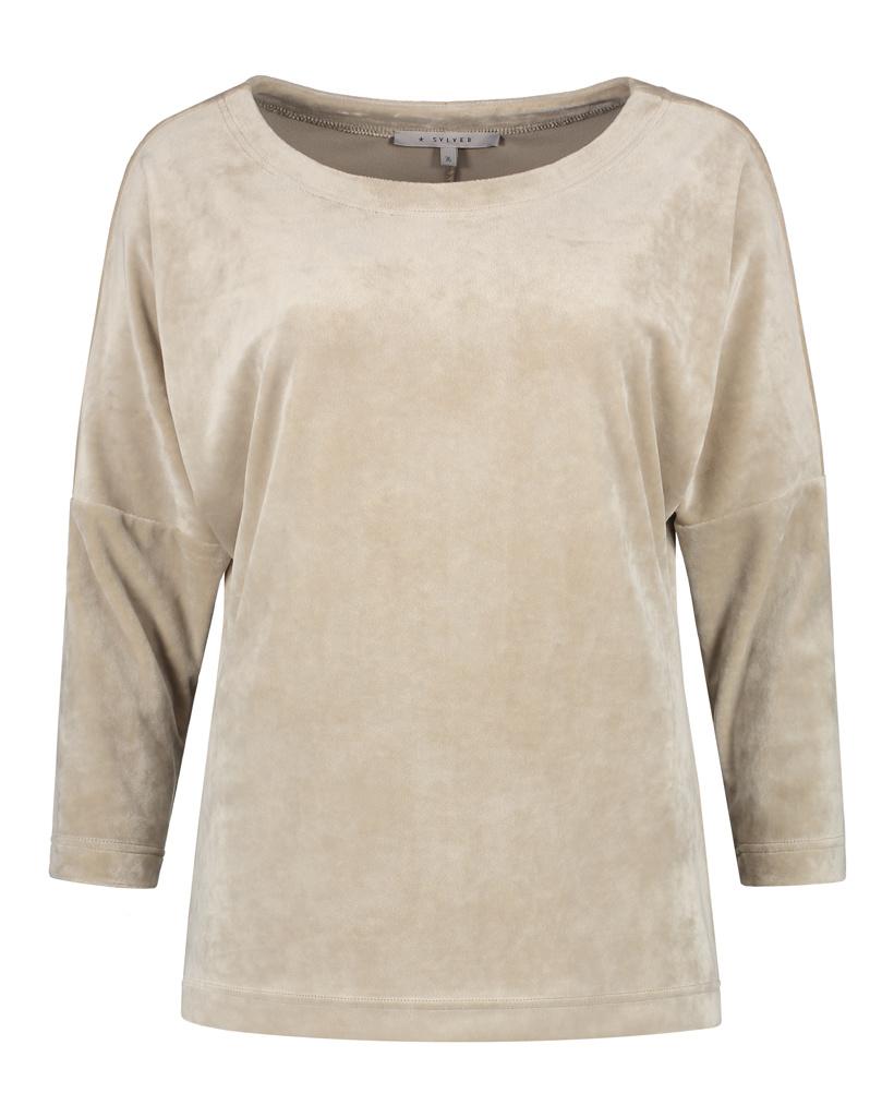 SYLVER Velvet Shirt - Oatmeal