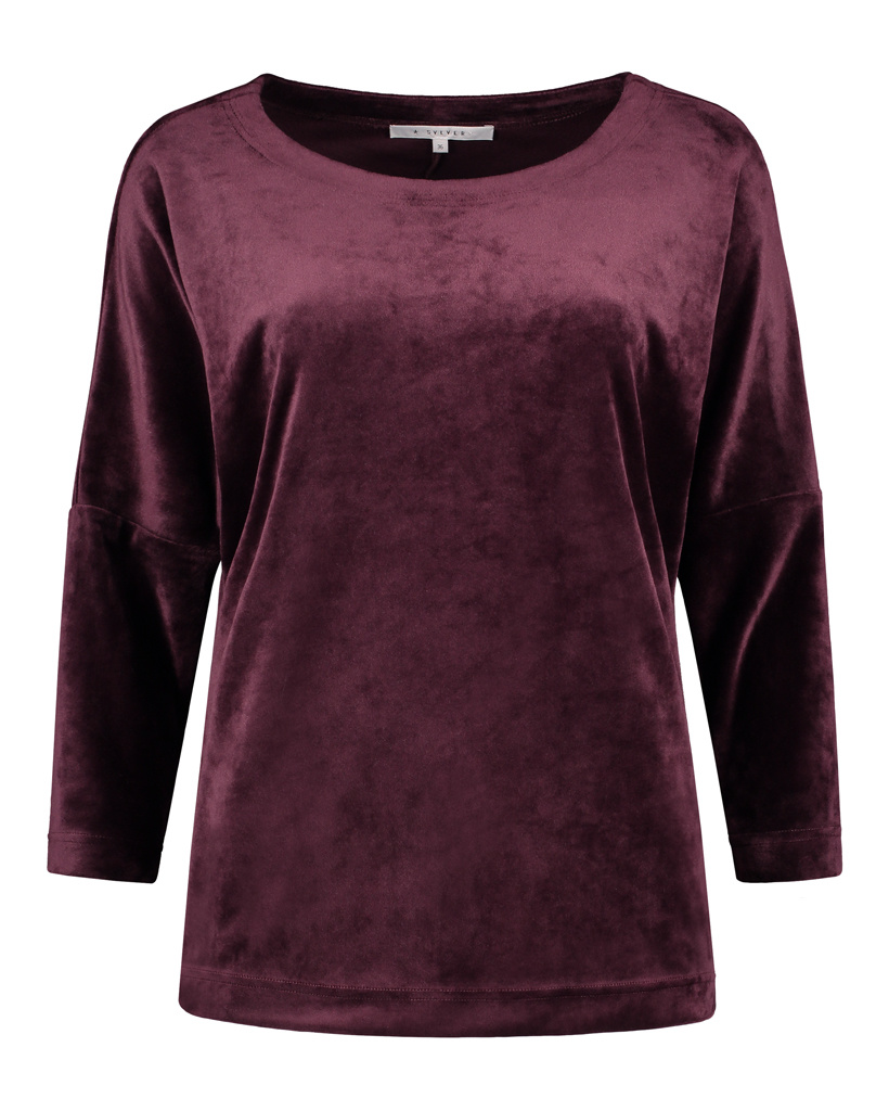 SYLVER Velvet Shirt - Choco Wine