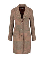 SYLVER Tweed Check Blazer - Rust