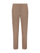 SYLVER Tweed Check Trousers - Rust