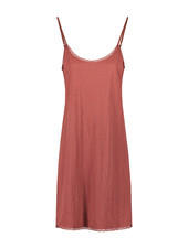 SYLVER Crêpe Stretch Slip Dress - Rust