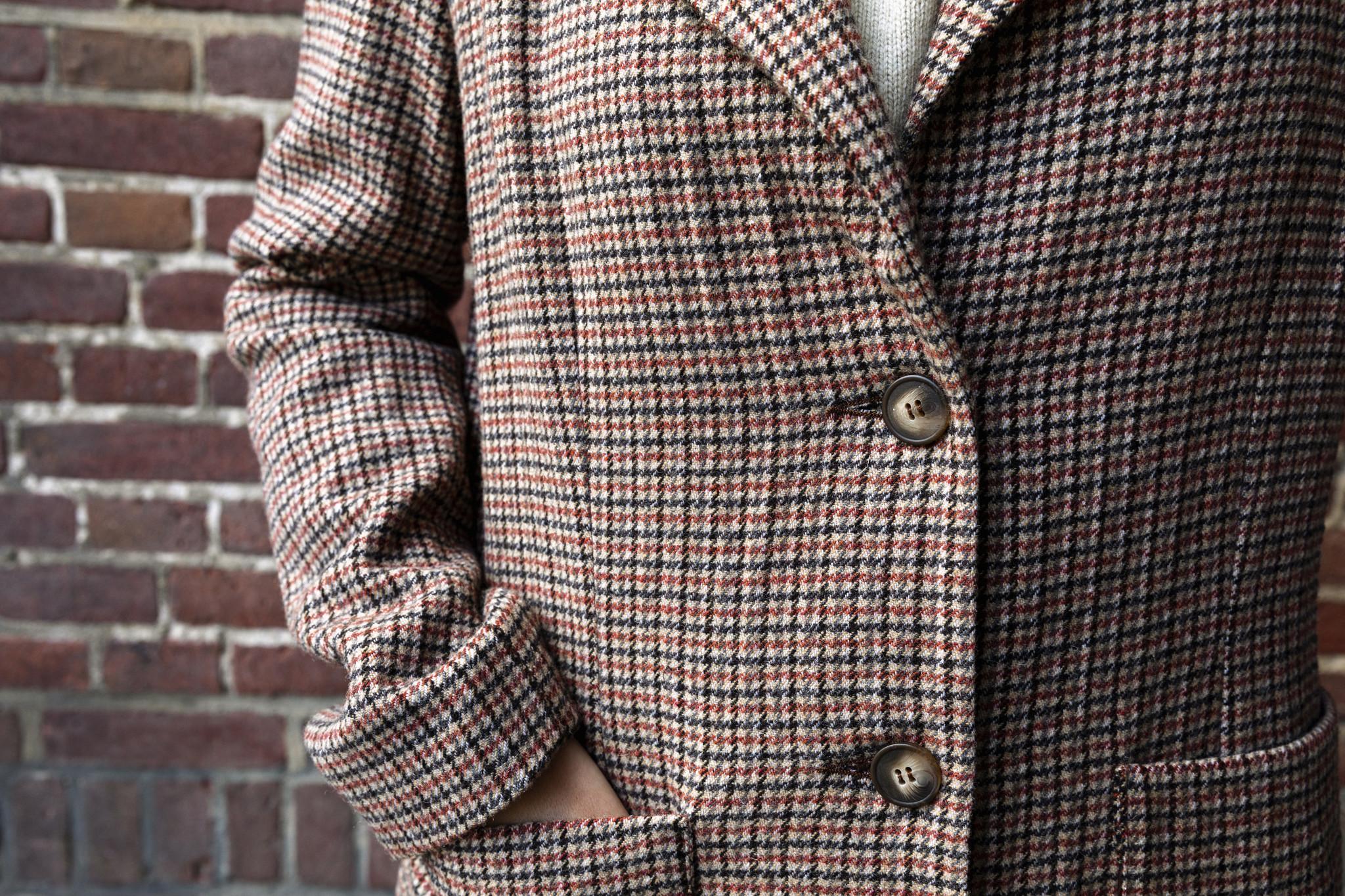 SYLVER Tweed Check Blazer - Rust