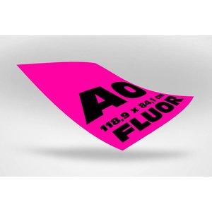 A0 posters  (118,9 x 84,1 cm) roze fluoriserend papier