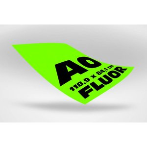 A0 posters (118,9 x 84,1 cm) groen fluoriserend papier