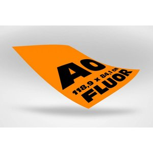 A0 posters  (118,9 x 84,1 cm) oranje fluoriserend papier