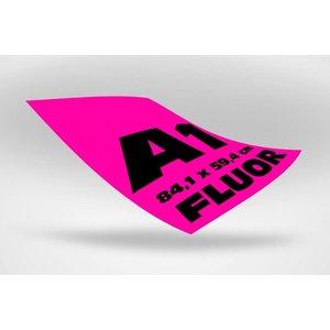 A1 posters (84,1 x 59,4 cm)  roze fluoriserend papier