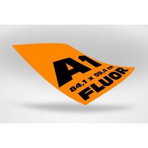 A1 posters (84,1 x 59,4 cm) oranje fluoriserend papier