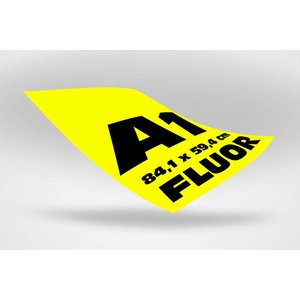 A1 posters (84,1 x 59,4 cm)  geel fluoriserend papier