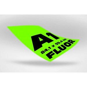A1 posters  (84,1 x 59,4 cm) groen fluoriserend papier