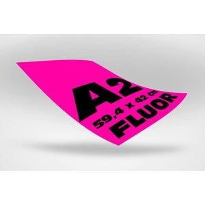 A2 posters (59,4 x 42 cm) roze fluoriserend papier