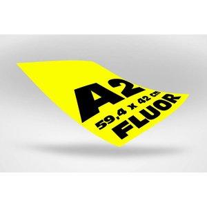 A2 posters (59,4 x 42 cm) geel fluoriserend papier