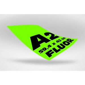A2 posters (59,4 x 42 cm)  groen fluoriserend papier