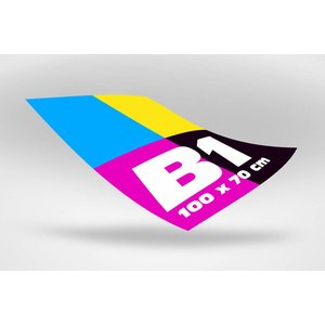 B1 poster 100 x 70 cm
