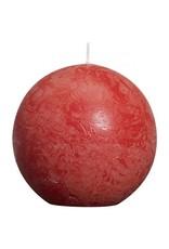 Bolsius Bolsius bolkaars rustiek 80mm rood