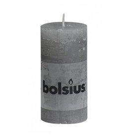 Bolsius Bolsius stompkaars rustiek 100x50mm lichtgrijs