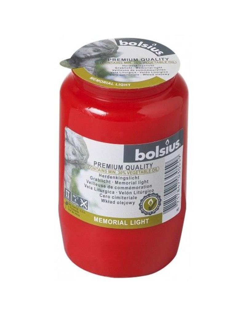 Bolsius Bolsius gedenklicht nr3 rood