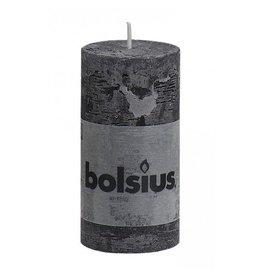 Bolsius Bolsius stompkaars rustiek 100x50mm zwart