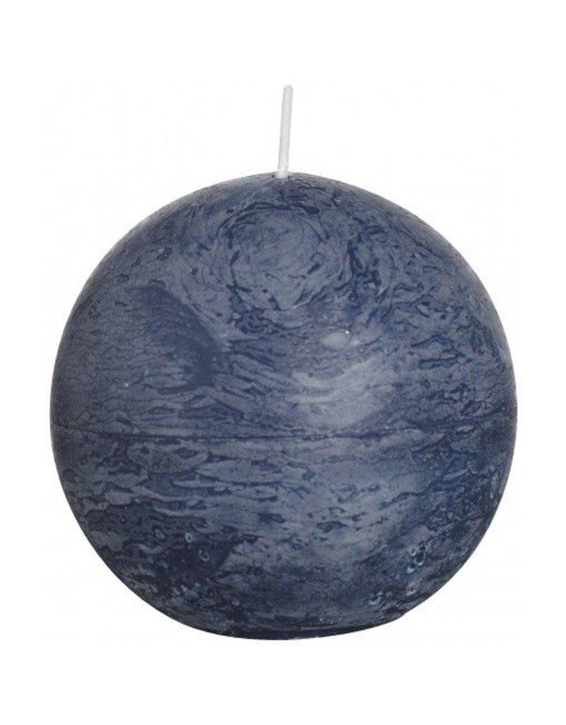 Bolsius Bolsius bolkaars rustiek 80 mm donker blauw