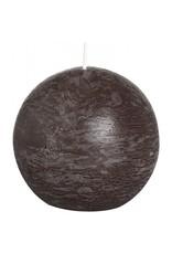 Bolsius Bolsius bolkaars rustiek 80 mm chocolade bruin