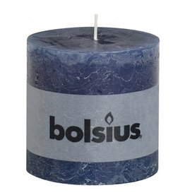 Bolsius Bolsius stompkaars rustiek 100 x 100 mm donker blauw