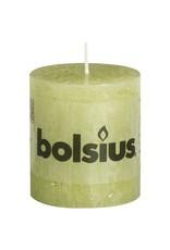 Bolsius Bolsius stompkaars rustiek 80 x 70 mm pastel groen