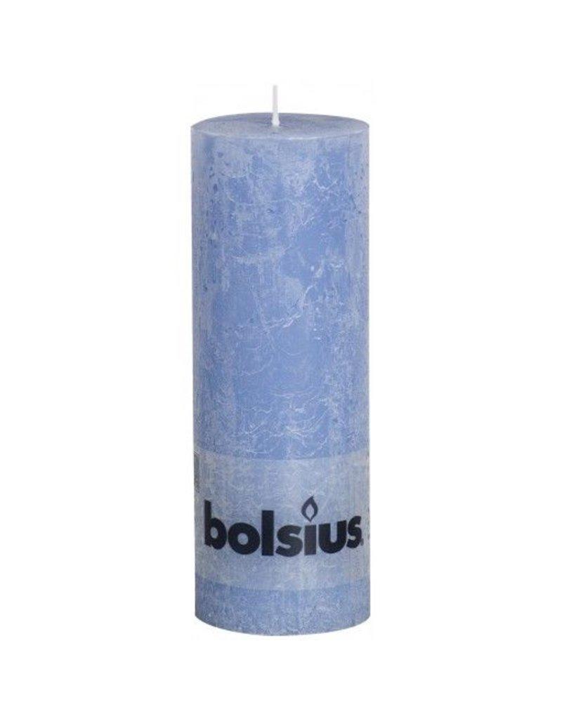 Bolsius Bolsius stompkaars rustiek 190 x 70 mm jeans blauw