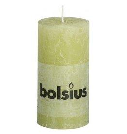 Bolsius Bolsius stompkaars rustiek 100 x 50 mm pastel groen