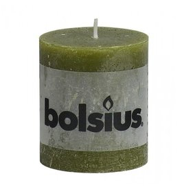 Bolsius Bolsius stompkaars rustiek 80x70mm olijf