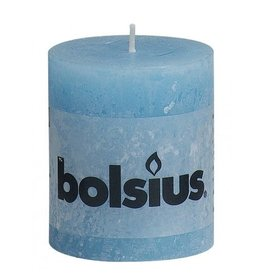 Bolsius Bolsius stompkaars rustiek 80x70mm aqua