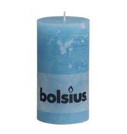 Bolsius Bolsius stompkaars rustiek 130x70mm aqua