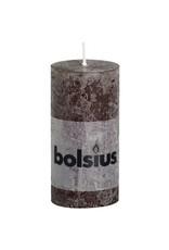 Bolsius Bolsius stompkaars rustiek 100 x 50 mm chocolade bruin