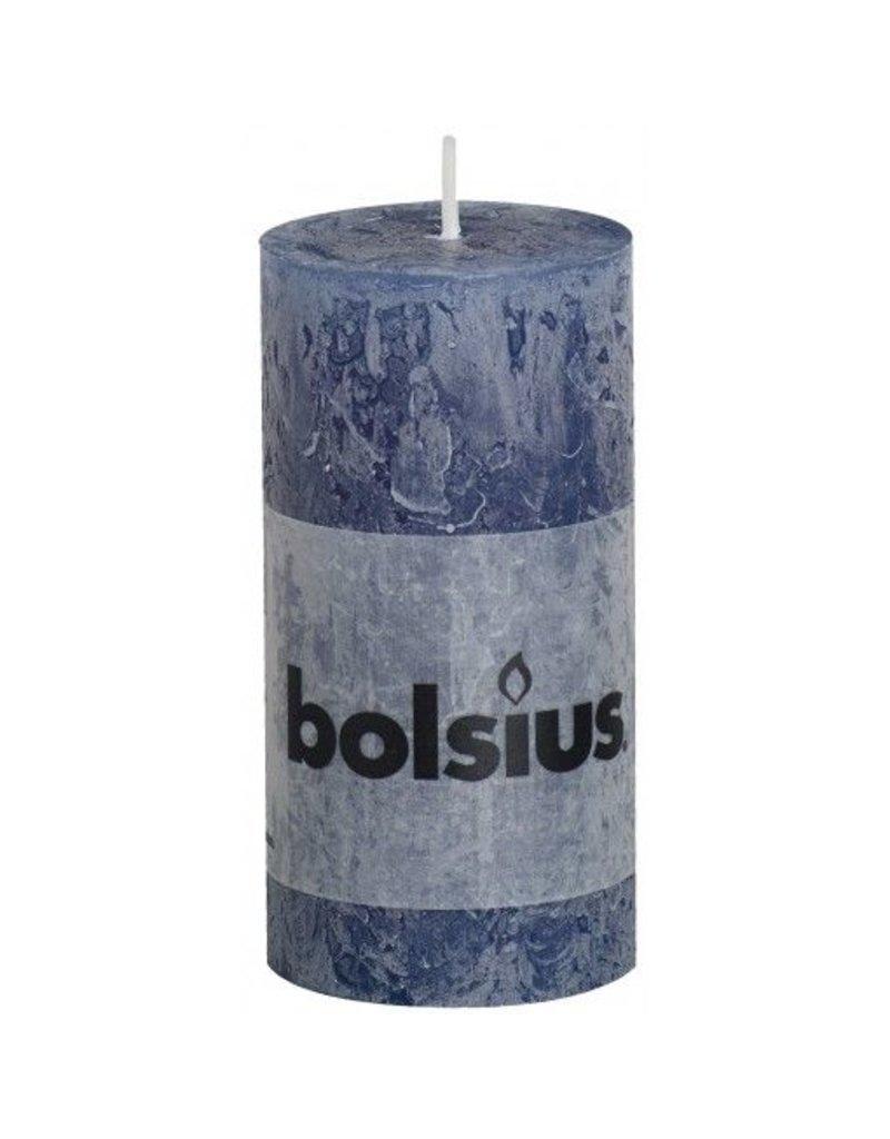 Bolsius Bolsius stompkaars rustiek 100 x 50 mm donker blauw