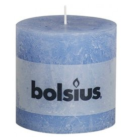 Bolsius Bolsius stompkaars rustiek 100 x 100 mm jeans blauw