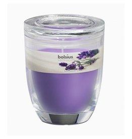 Bolsius Bolsius geurkaars in glas 120mm lavendel