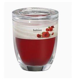 Bolsius Bolsius geurkaars in glas 120mm rose