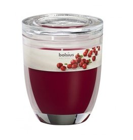 Bolsius Bolsius geurkaars in glas 120mm cranberry