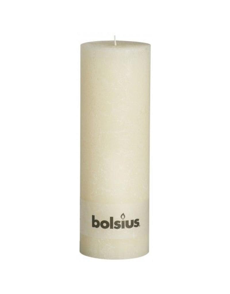 Bolsius Bolsius stompkaars rustiek 30x10cm ivoor