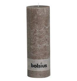 Bolsius Bolsius stompkaars rustiek 30x10cm taupe
